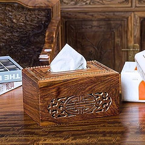 COLLECTOR Haushalt Haushalt Papier Büro Papier Handtuch Rohr Mahagoni geschnitzt Holz Holzkiste europäischen-Gewebe,150 Blatt