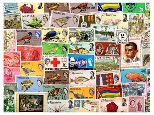 Pghstamps mauritius 500 francobolli differenti collezione per collezionisti