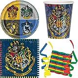 32-teiliges Party Set Harry Potter Kindergeburtstag Geburtstag Party Fete Feier 8 Teller, 8 Becher, 16 Servietten