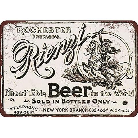 1895Rienzi birra stile vintage Riproduzione in metallo
