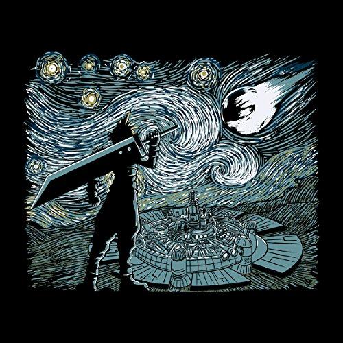 Final Fantasy Van Gogh Starry Fantasy Women's Vest Black