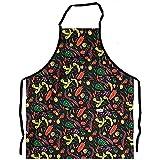 tablier de cuisine chili peppers black II, bib