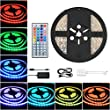 COSANSYS LED Strip RGB LED Streifen Set 5M SMD 5050 300LEDs IP65 Wasserdicht Lichtleisten Farbwechsel LED Strip Lichtband mit 44 Tasten IR Fernbedienung 12V 5A Netzteil