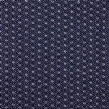 Japanische 35,5cm 100% Baumwolle Marine Asanoha Furoshiki Tuch-Gewebe