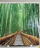 PETGOOD Duschvorhang Bunte tropische Dekor Wildlife viele schöne Duschvorhänge zur Auswahl, hochwertige Qualität, Wasserdicht, Anti-Schimmel-Effekt 180 x 180 cm