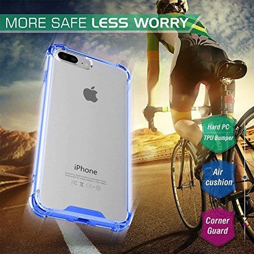 "First2savvv iPhone 7 4.7. iPhone 8 4.7 "" Stoßdämpfende Hülle TPU Case Schutzhülle Silikon Crystal Case Durchsichtig iphone 7 -XJPJ-I7-4.7-B02 blau Hülle -5.5"
