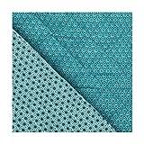 Tissu piqué de coton matelassé étoiles asahona - Bleu pétrole - Largeur 145 cm- Longueur au choix par 50cm