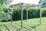 G&C Henley Holzpavillon – klassische viereckige Pergola aus Fichtenholz –
