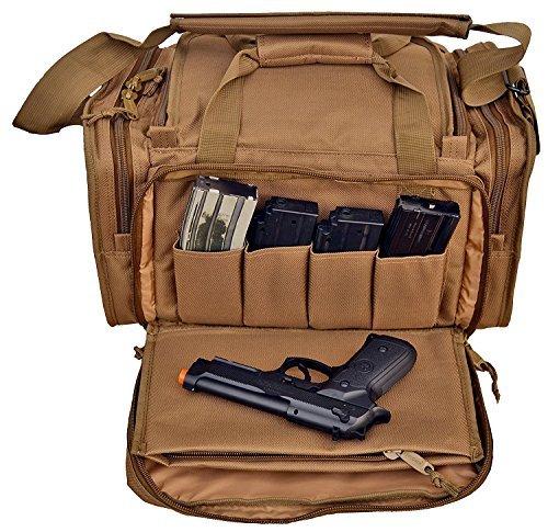 Explorer Große gepolsterte Deluxe Tactical Range Tasche Rangemaster Gear Tactical Assault Sling Pack Range Schulterkameratasche Modular, Tan Coyote Brown Range Bag r2, 18