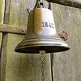Antikas - Glocke - Schiffsglocke mit sehr lautem Klang, historisches Modell Antik Messing