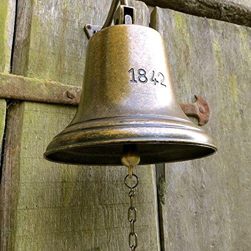 Antike Schiff Glocke (Antikas - Glocke - Schiffsglocke mit sehr lautem Klang, historisches Modell Antik Messing)