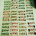 Sunei.f Christmas 3D Nail Art Stickers Decals, New Year Various Sticker/False Nail Manicure Decals Gems Glitter