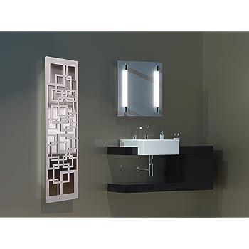 Badheizkörper Design Quadrat 3 + LED, HxB: 180 x 47, Edelstahl ...