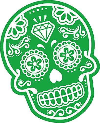 Preisvergleich Produktbild Grün & Weiß Neuheit Mexikanischer Tag der Toten Sugar Skull Auto-Aufkleber Vinyl Aufkleber 110 x 85