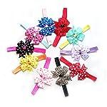 Rrimin Multi-Colour Chiffon Satin Lace Head Band For Girls( 10Pcs, Color Random)