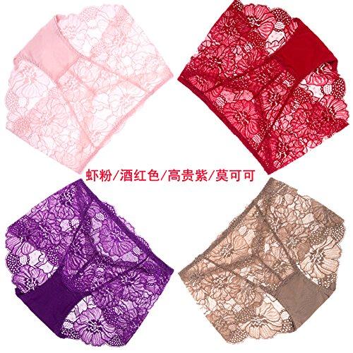 Artikel RRRRZ*4 große rote Box in diesem Jahr im Auftrag der weiblichen Unterwäsche Spitzenstoff in sexy Unterwäsche ,L, Taille 3 Garnelen / rosa Wein rot / lila / Edel Kakao Mok