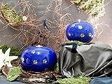 Kugelurne aus Keramik, Karminrot gesprenkelt mit schw. Pfötchenspuren, Vol. ca. 1,00 Ltr. - 5