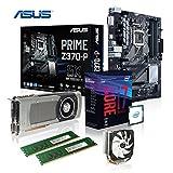 Memory PC Aufrüst-Kit Bundle i7-8700K, 16 GB DDR4, ASUS Prime Z370-P, Nvidia Geforce GTX 1050 Ti 4096MB 4k, komplett fertig montiert und getestet