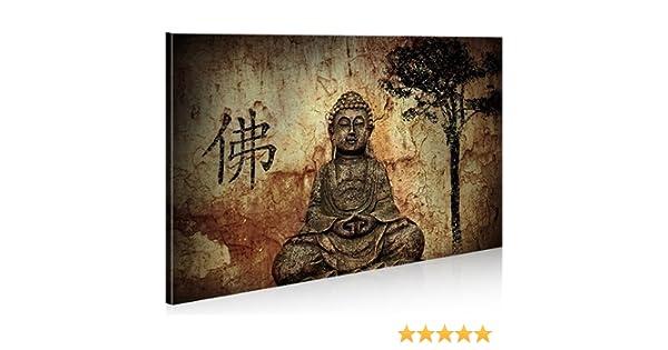 Bild auf Leinwand Buddha V10 1K Leinwandbild Wandbild Poster