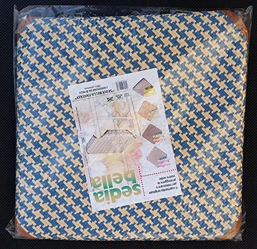 6 coprisedia in paglia universali 50x50 rafia coprisedia cucina salotto made in italy (variante 6)