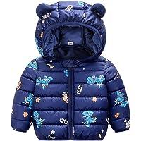 Veste D'Hiver Bébé Manteau Enfants Oreille à Capuche Blouson Rembourré Chaud Poids Léger Garçons Filles Tenues Bleu 6-12…