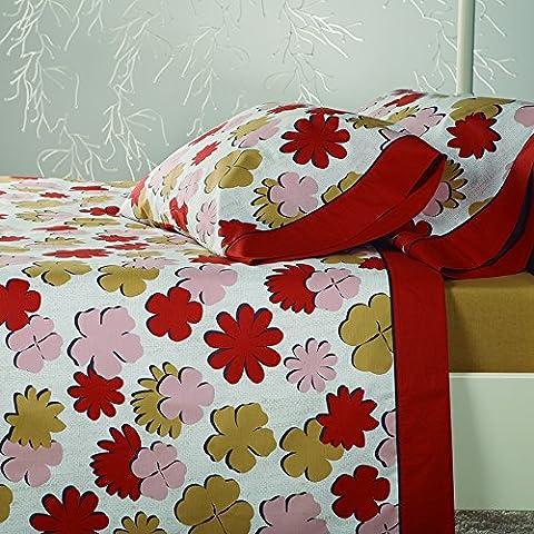 Erba sogni di erba fiori-Set di lenzuola per letto matrimoniale