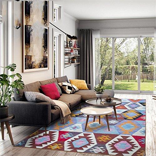 L&Y tapis Simple fashion folk-custom living room Tapis Maçonnerie de table de table Tapis de moquette Non-Slip Mat (taille : 120CM×170CM)