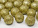 25 Glitzer Dekokugeln Dekobälle gold 2 cm - Weihnachten - goldene Hochzeit