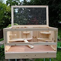 Melko® Kleintierkäfig mit klappbarem Deckel, für kleine Nagetiere, 60 x 35 x 30 cm, Nagervilla Hamsterkäfig Mäusekäfig