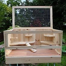 Kleintierkäfig mit klappbarem Deckel für kleine Nagetiere 60 x 35 x 30 cm (B x H x T)