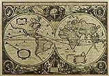 1641 Jahre alte Seekarten nostalgischen Retro Packpapier -Plakat