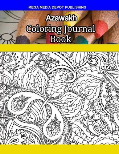 Azawakh Coloring Journal Book por Mega Media Depot