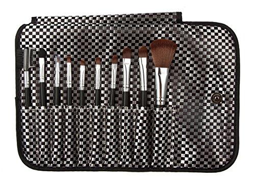 Davidsonne Professionnel Fond de Teint Poudre Eyeliner Fard à paupières de maquillage fard à joues brosse (10, noir)