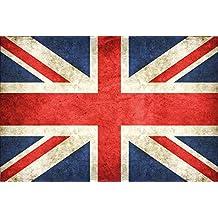 Pays Drapeau–UK United Kingdom, Go Great Britain drapeau Royaume-Uni, Grande-Bretagne barschild, dekoschild, Retro