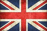 Länder Fahne -UK United Kingdom, GB Great Britain- National Flagge Vereinigtes Königreich, Großbritannien schild aus blech, , retro