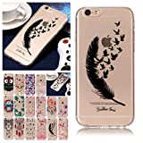 V-Ted Coque Apple iPhone 7 Plus 8 Plus Plume Citation Silicone Ultra Fine Mince...