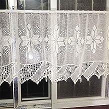 ZHANG-Ganchillo de la mano mitad de la cortina del sofá toalla cubierta decoración hueco