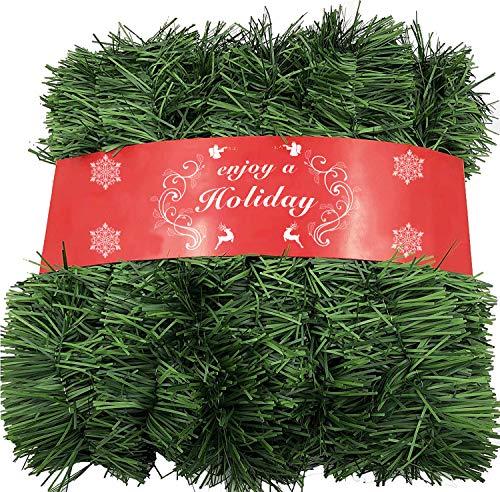 ATNKE 1600CM Ghirlanda di Natale Decorazioni - non Lit verde morbido Holiday Decor per uso esterno o interno - Premium Home Garden verde artificiale o festa di matrimonio, Scale, caminetti Decorazione