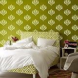 Arhat Stencils Glossy PVC DAMASK Wall Stencils