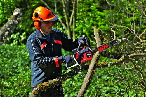 OREGON 36v Cordless Electric Professional Self-Sharpening Chainsaw.