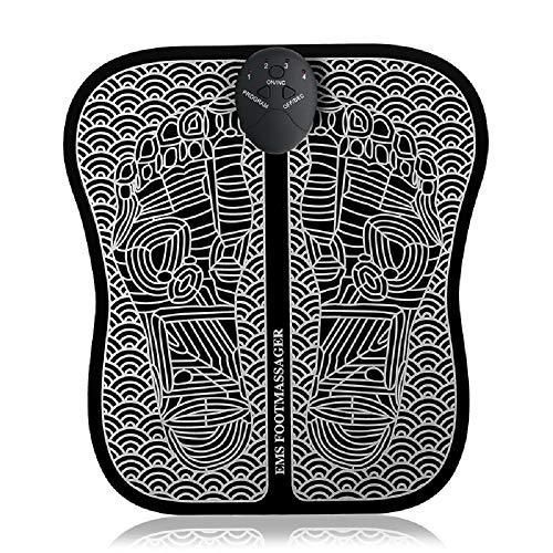 POWER BANKS Elektrisches Fußmassagegerät EMS Elektrisches Massagetherapie-Pflege- und Entspannungsgerät für die Plantarfasziitis des Wadenbeins und der Durchblutung,Battery
