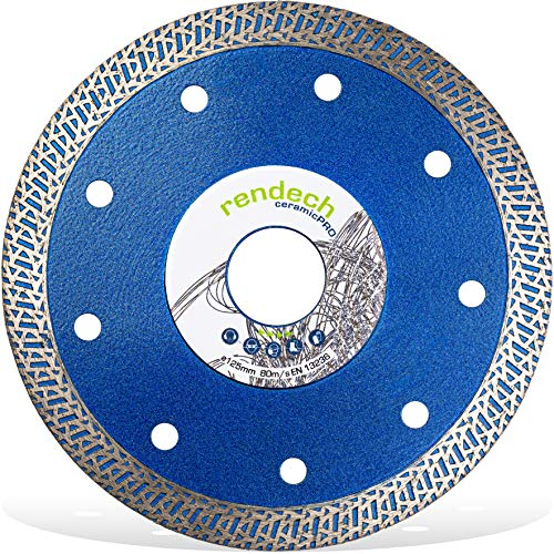 Ceramic PRO Diamantscheibe Ø 125 mm x 22,23 mm für harte Fliesen, hartes Feinsteinzeug, Granit, Keramik uvm. - Diamant-Trennscheibe in Profi Qualität