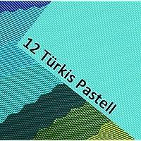 OXFORD 600D colore 12/tessuto poliestere turchese pastello 1 lfm outdoor impermeabile estremamente resistente agli strappi robusto PVC articolo a metraggio tessuto per vele coperture tende zaini borse