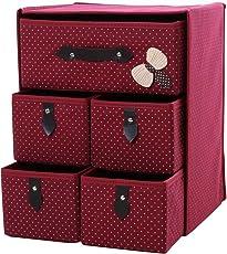 Outgeek Storage Drawer Foldable Bowknot Clothes Organizer Storage Cube Organizer