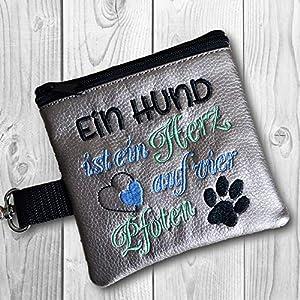 Kotbeutelspender Ein Hund ist ein Herz auf vier Pfoten, silbergrau