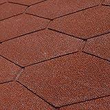 5er Pack Dachschindeln Dreieck Rot 5x 3 m² = 15 m²