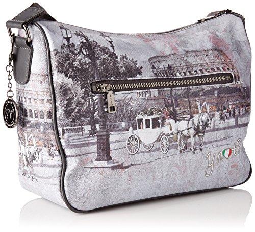 YNOT i-370, Borsa a Tracolla Donna, 31 x 24.5 x 12.5 cm (W x H x L) Multicolore (Romantic Coach)
