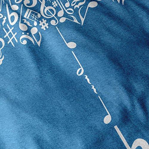 Regenschirm Hinweis Musik Musik Damen S-2XL T-shirt   Wellcoda Royal Blue