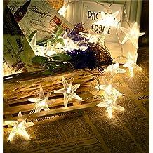 Estrella de mar 3 metros guirnalda de cadena de luces LED para interior y exterior para