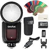 Godox V1-C Flash Speedlite de Cabeza Redonda para Cámaras Canon 2.4G X Wireless HSS 76Ws Flash de Flash para Canon 6D 7D 50D